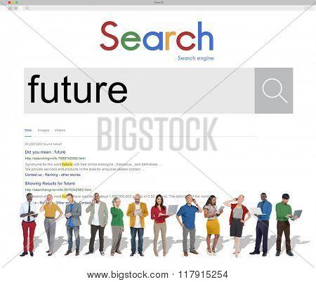 Future Futuristic imagine Time Vision Plan Concept