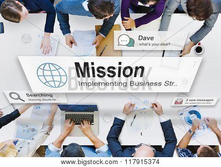 Mission Motivation Objective Plan Aspiration Concept