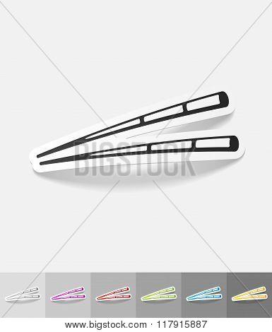 realistic design element. chopsticks for sushi