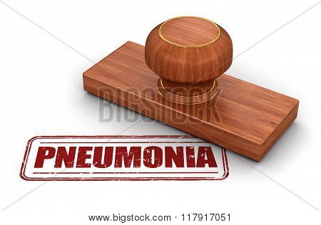 Stamp Pneumonia.  Image with clipping path
