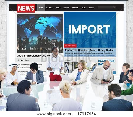 Import Freight International Transportation Concept