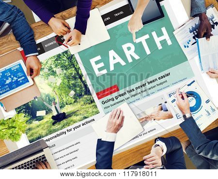 Earth Planet Ecology Environment Conservation Concept