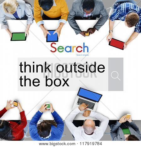 Think Outside the Box Idea Startup Creativity Innovation Concept
