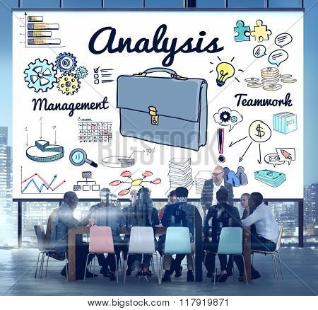 Business Analysis Icon Graphics Concept