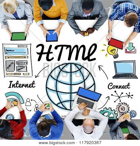 HTML Global Communication Software Internet Concept