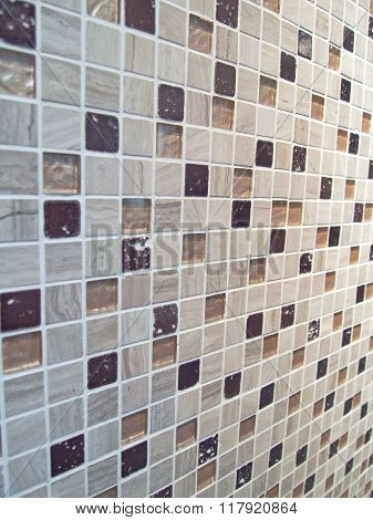 Random Size Of Mosaic Wall Or Background