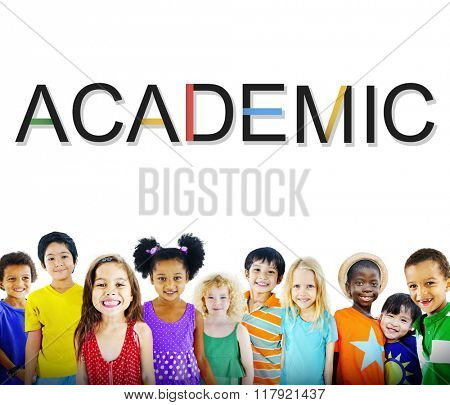 Academic Studying School Graphic Concept