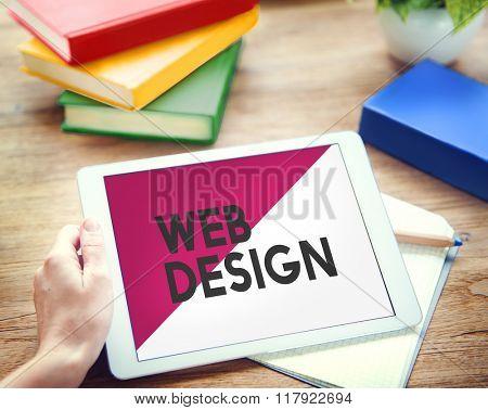 Digital Device Technology Web Design Concept