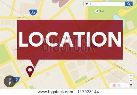 Journey Navigation Location Map Destination Concept