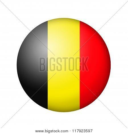 The Belgian flag