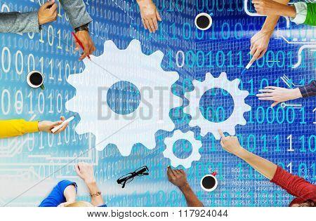 Support Alliance Partnership Corporate Teamwork Concept