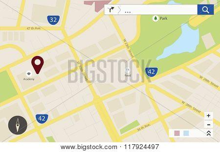 GPS Application Journey Destination Place Concept