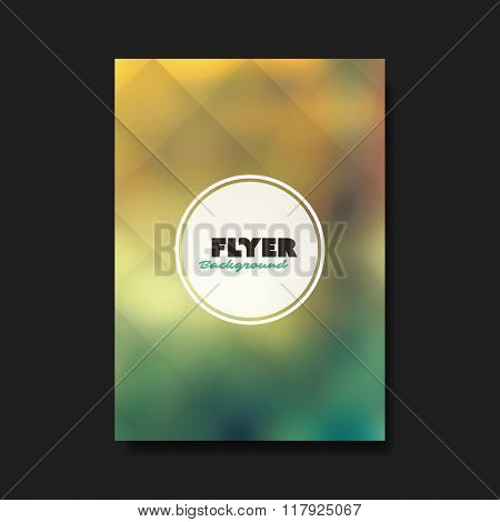 Abstract Flyer or Cover Design Template with Blurred Background