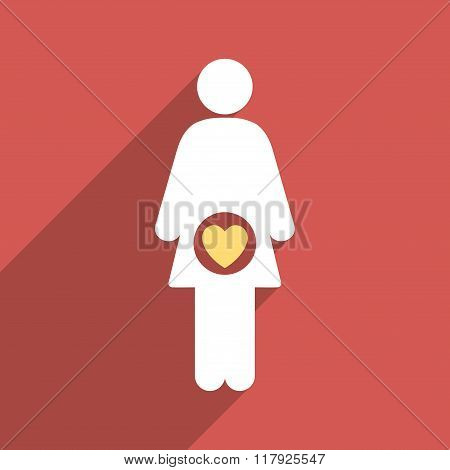 Fertility Flat Long Shadow Square Icon