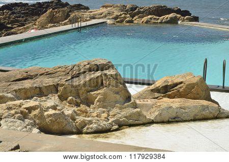 Pool Next To The  Atlantic Ocean