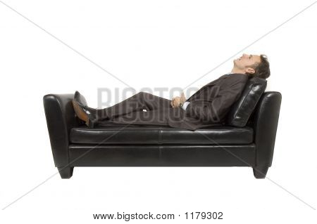 Businessman Laying