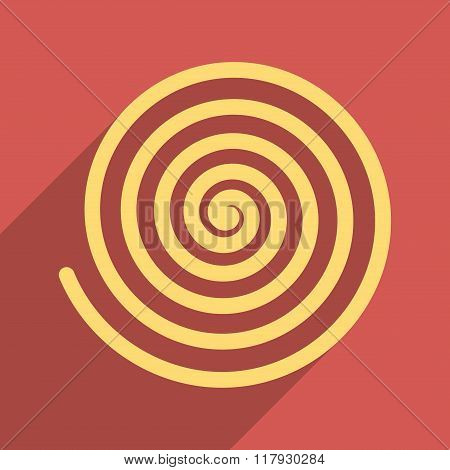 Hypnosis Flat Long Shadow Square Icon