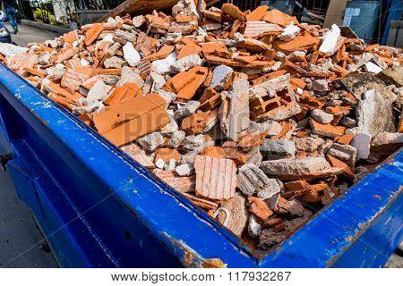 rubble at construction site