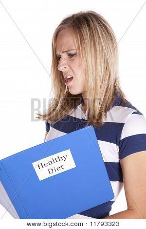 Woman Healthy Diet Not Happy