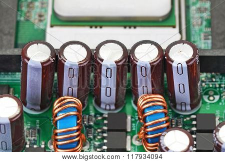 Capacitor On Circuit Board Background