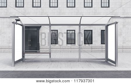 Bus Stop In The City
