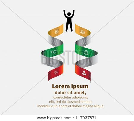 Set Of Infographics Elements. Design Concept For Presentation, Graph, Diagram And Chart. Vector Illu