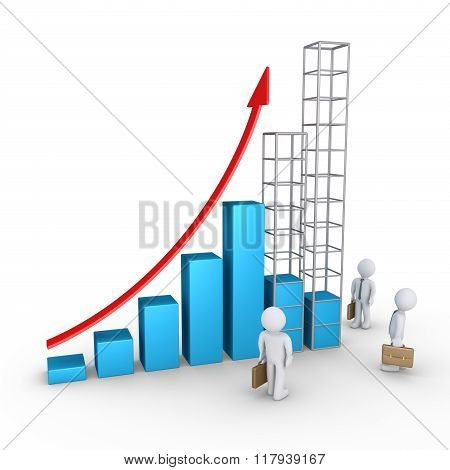 Forecast Of Graph And Businessmen