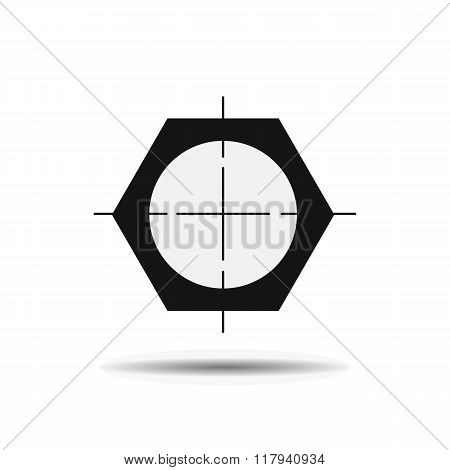 pipe drawing black flat icon on a white background with shadow