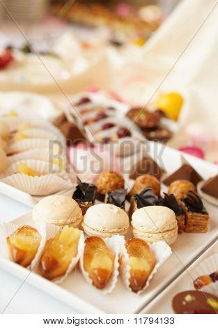 Süßigkeiten auf Bankett-Tisch