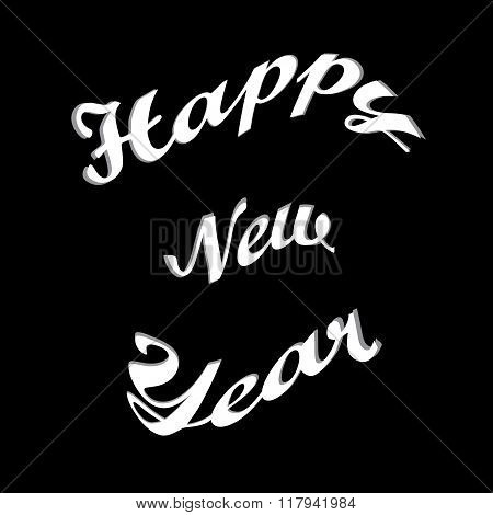 Stylish text Happy New Year