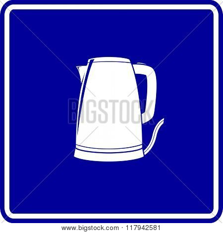 electric kettle sign