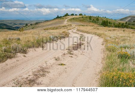 Dirt Road in Wyoming