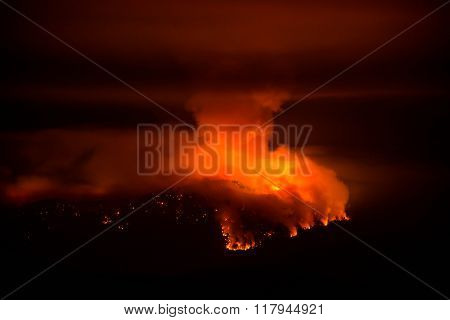 French Fire at Night