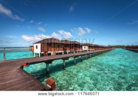 Luxury Water Villas Of The Maldivian Resort