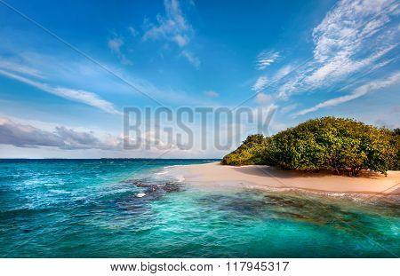 Deserted Maldivian Island