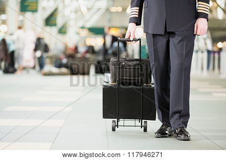 Pilot with bags