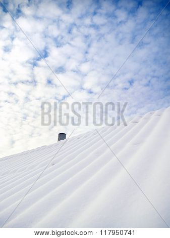House Roofs Covered By Snow