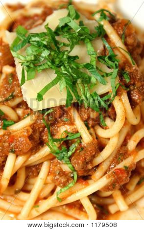 Bolognese Mixed With Spaghetti