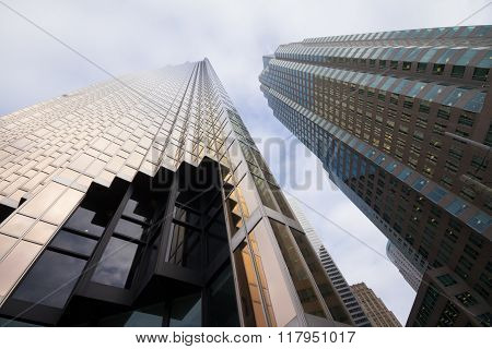 Skyscrapers In Downtown Toronto, Financial District.