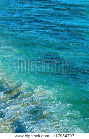 Blue Sea Texture Vertical Image