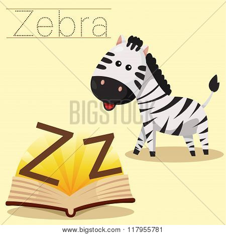 Illustrator of z for zebra vocabulary