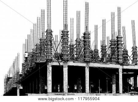 Pillar Building Construct Site