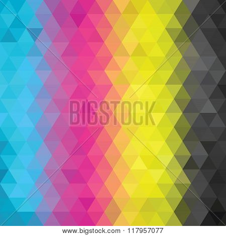 Abstract Cmyk Color