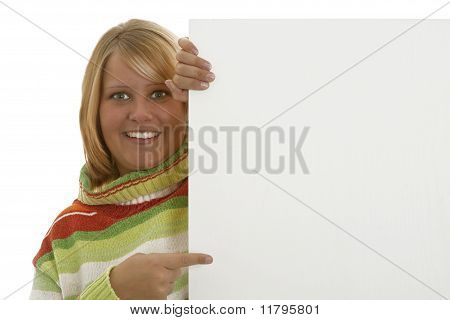 Young Woman With White Board