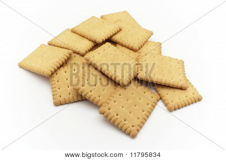 Biscuits over white