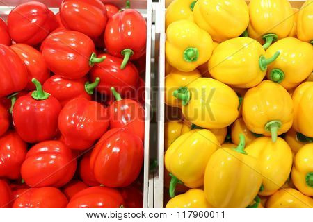 Fake Fruits And Fruits On Shelves