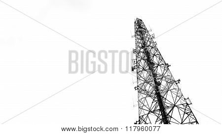 Broadcasting Tower With Cloudy Sky