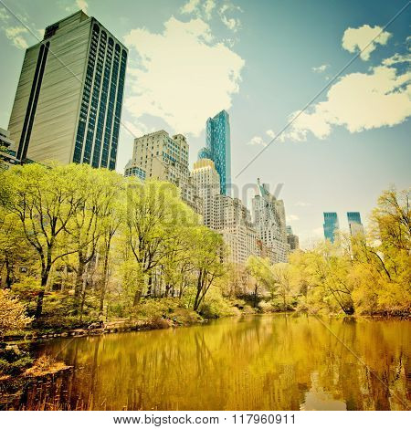 New York's central park with filter effect