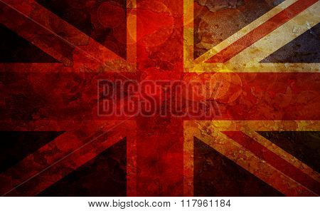 Union Jack Uk Flag Grunge Texture Background
