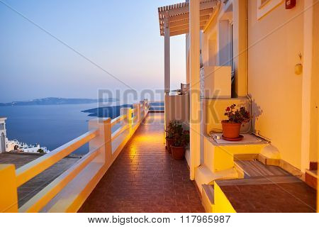 Santorini island at evening, Greece